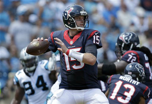 "<div class=""meta image-caption""><div class=""origin-logo origin-image none""><span>none</span></div><span class=""caption-text"">Houston Texans' Ryan Mallett (15) looks to pass against the Carolina Panthers (AP Photo/ Bob Leverone)</span></div>"