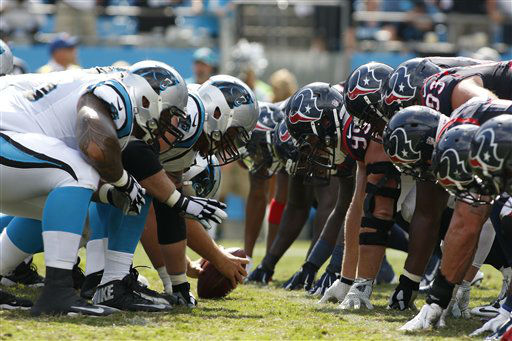 "<div class=""meta image-caption""><div class=""origin-logo origin-image none""><span>none</span></div><span class=""caption-text"">The Carolina Panthers line up against the Houston Texans during the second half (AP Photo/ Bob Leverone)</span></div>"