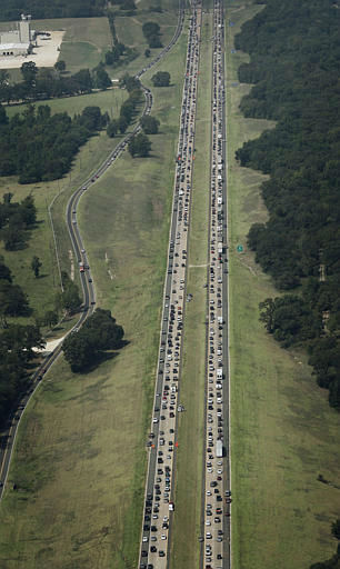 <div class='meta'><div class='origin-logo' data-origin='none'></div><span class='caption-text' data-credit='AP Photo'>Hurricane Rita evacuees were trapped in gridlock for nearly 24 hours, September 2005.</span></div>
