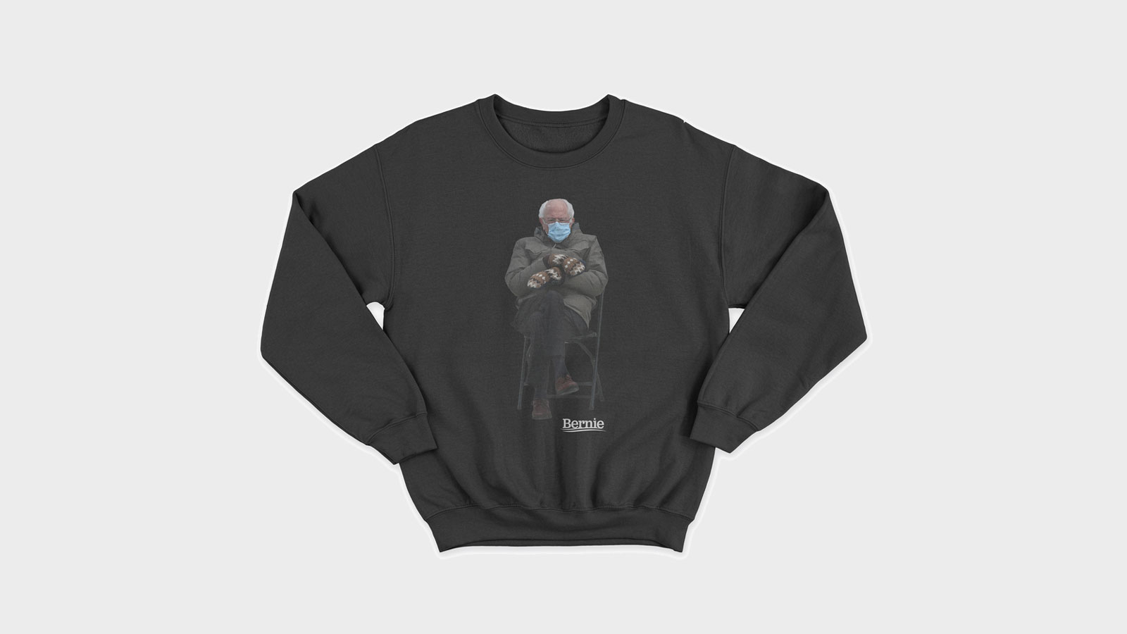 Bernie Mittens Sanders Turns Chair Meme Into Sweatshirt For Meals On Wheels Charity Abc7 San Francisco
