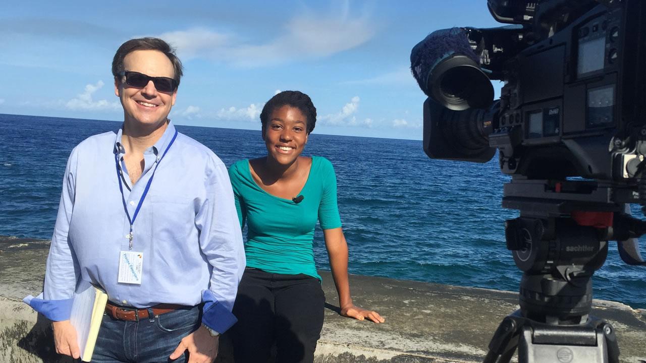 ABC11's Steve Daniels with Tanya Thomas