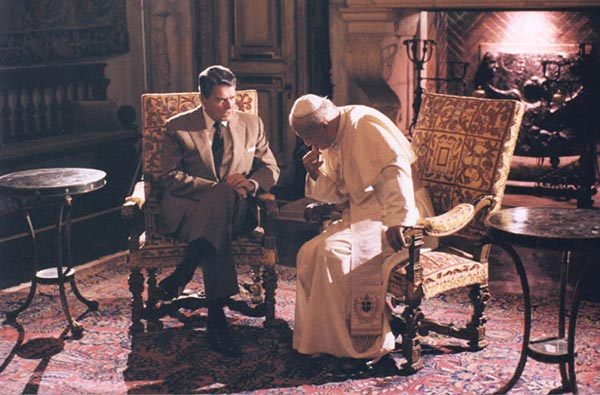 "<div class=""meta image-caption""><div class=""origin-logo origin-image wpvi""><span>WPVI</span></div><span class=""caption-text"">President Reagan talking to Pope John Paul II at the Vizcaya museum in Miami, Florida (9/10/87)</span></div>"