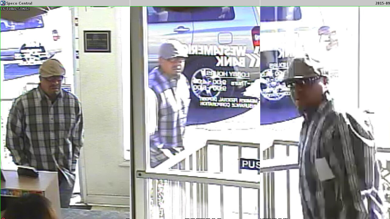 Easton WestAmerica bank robbery suspect