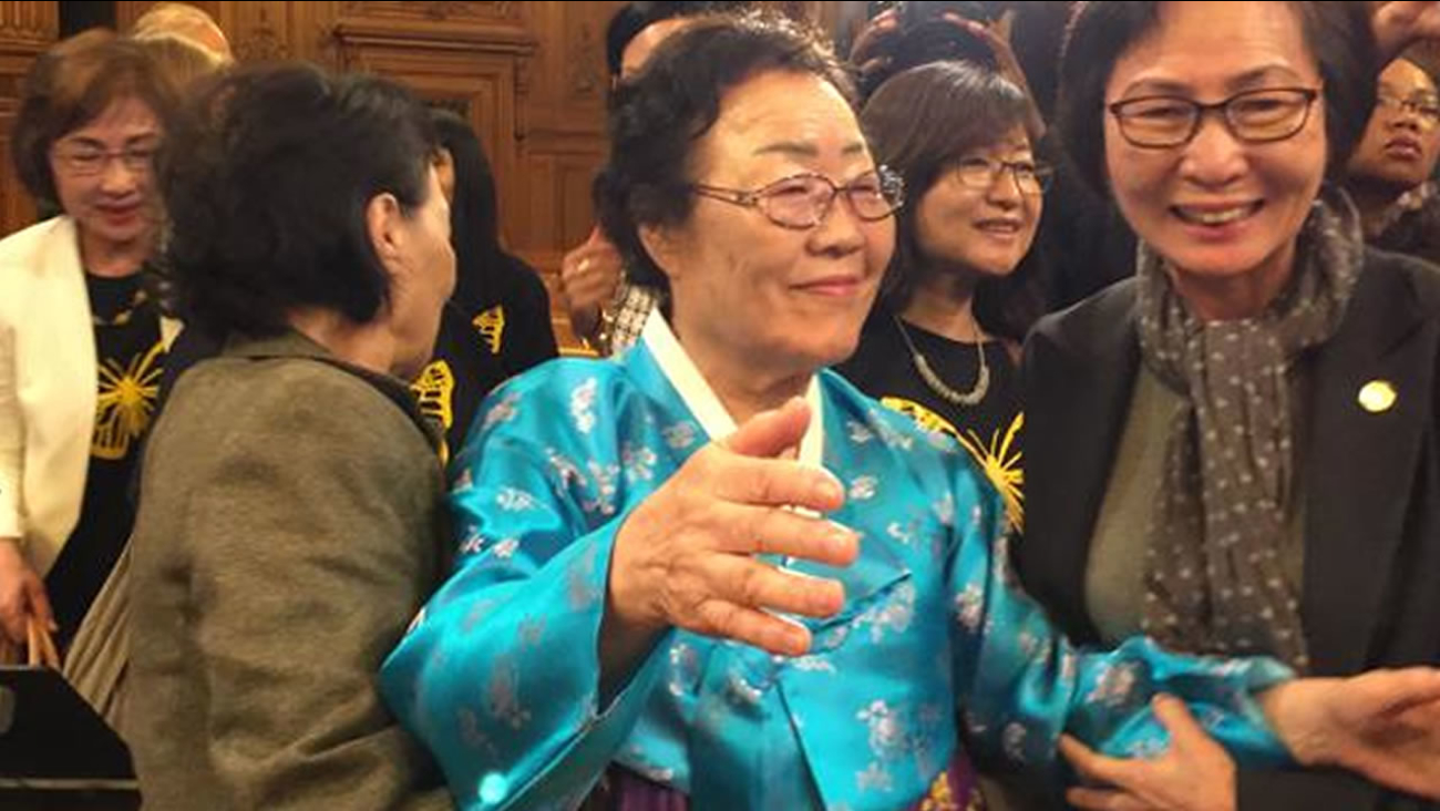 "Yong Soo Lee, a former World War II ""comfort woman,"" was in San Francisco Tuesday, Sept. 22 when the board of supervisors voted to esatblish a memorial dedicated to those women."