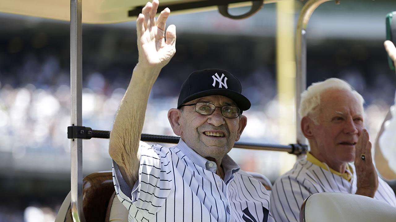 Hall of Famer catcher Yogi Berra