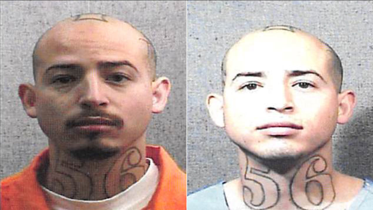 Jesse Diaz, 24, is shown in two booking photos provided by the California Department of Corrections and Rehabilitation.