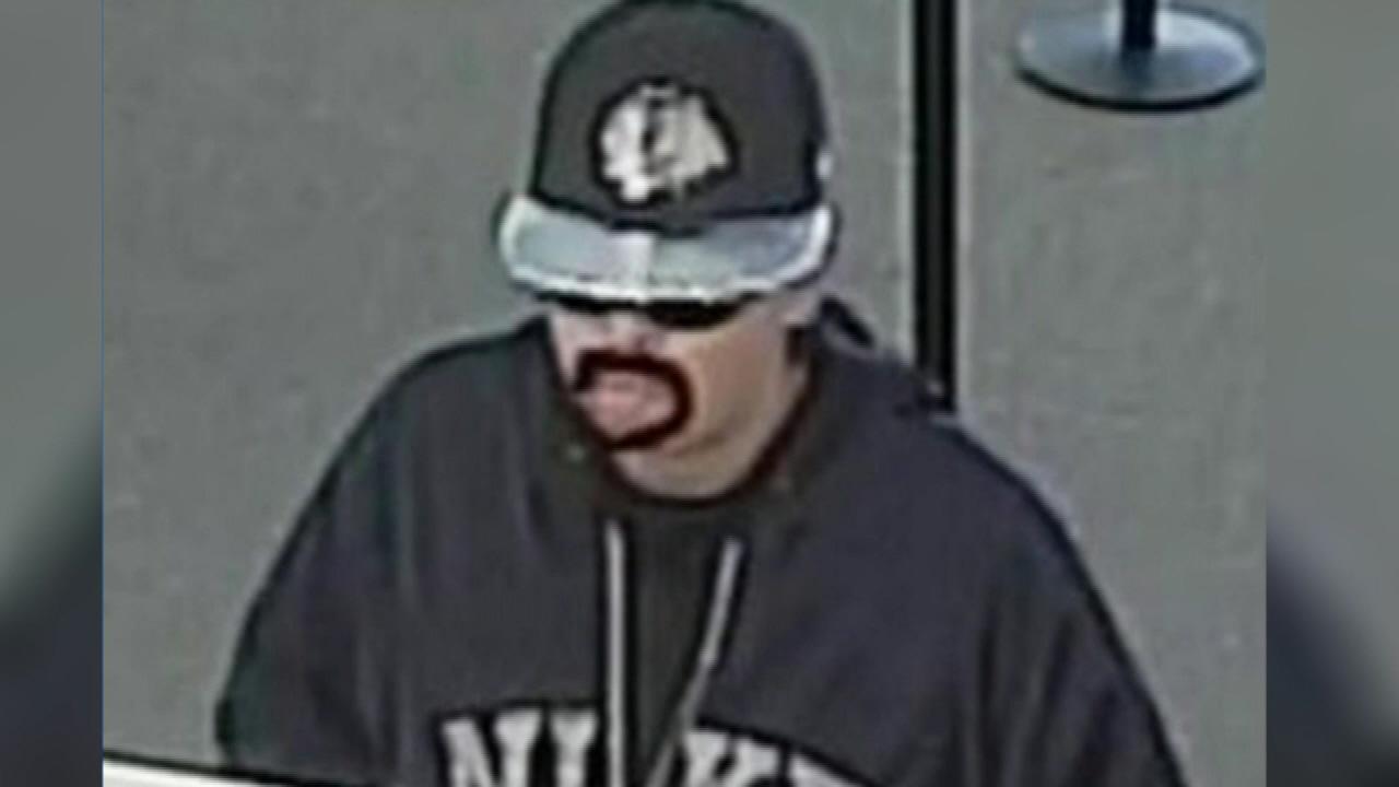 mustache bank robber